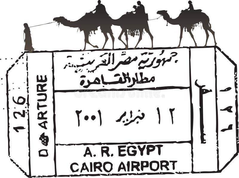 Het paspoortzegel van Egypte