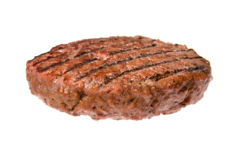 Het pasteitje van de hamburger stock fotografie