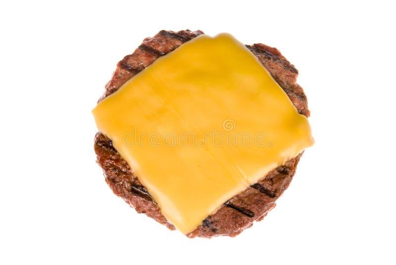 Het pasteitje van de hamburger met kaas stock foto