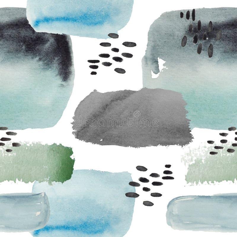 Het patroon` Ð  bstract grafiek van de waterverfillustratie ` stock illustratie