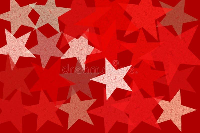 Het patroon abstracte illustratie van sterren grunge royalty-vrije illustratie