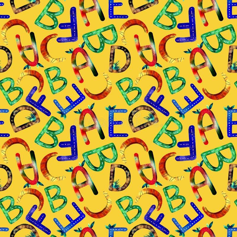 Het patroon Engels alfabet van kinderen royalty-vrije illustratie