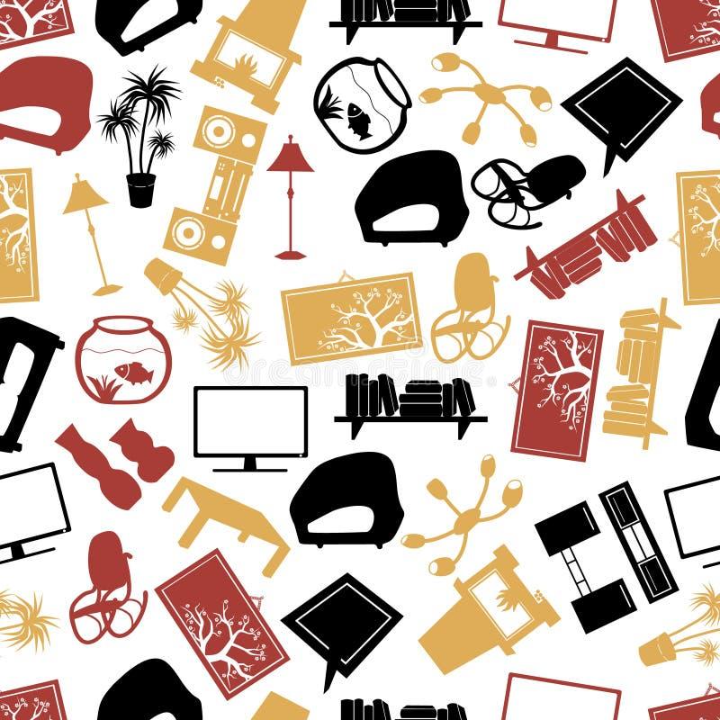 Het patroon eps10 van de woonkamerkleur royalty-vrije illustratie