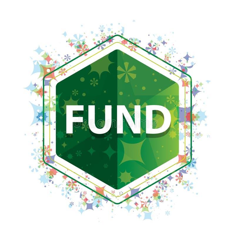 Het patroon groene hexagon knoop van fondsen bloemeninstallaties royalty-vrije illustratie