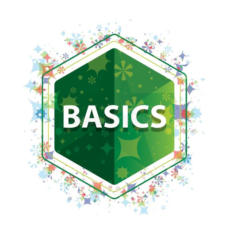 Het patroon groene hexagon knoop van grondbeginselen bloemeninstallaties royalty-vrije stock foto