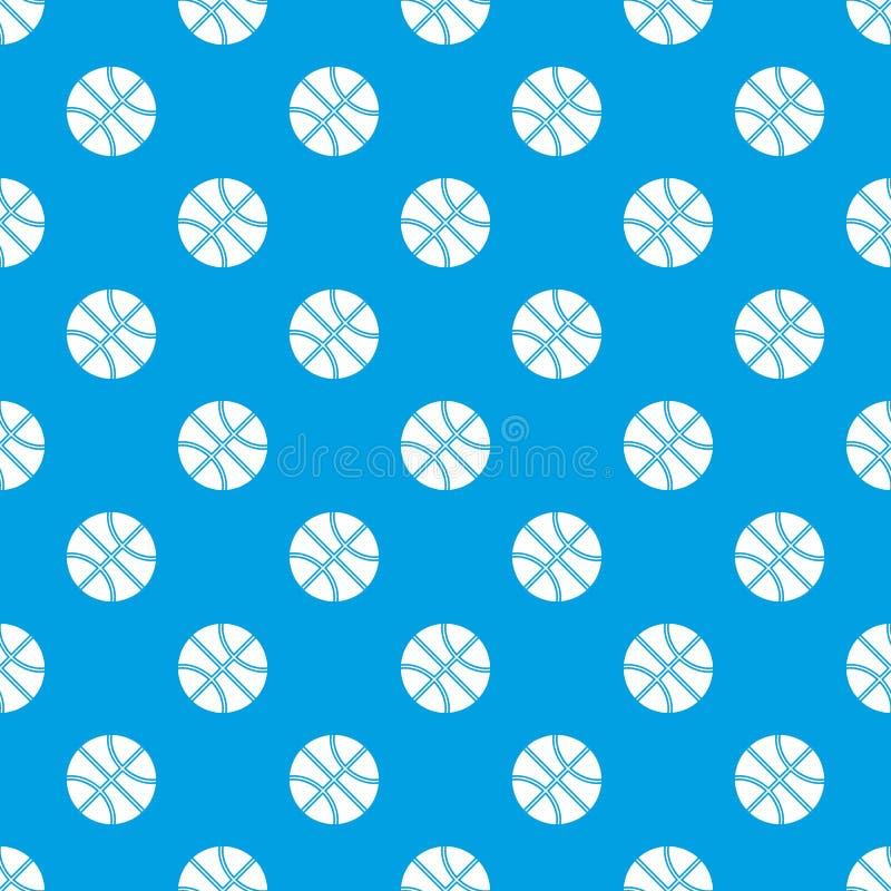Het patroon naadloos blauw van de basketbalbal vector illustratie