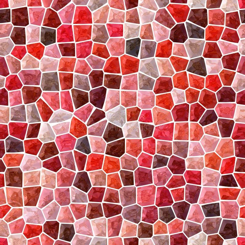 Het patroon naadloze achtergrond van het oppervlakte marmeren mozaïek met witte mohogany, kastanjebruine pleister -, perzik, brui royalty-vrije illustratie
