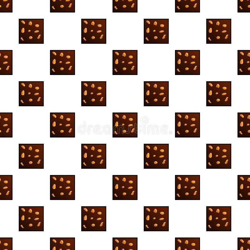 Het patroon naadloze vector van chocoladekoekjes stock illustratie