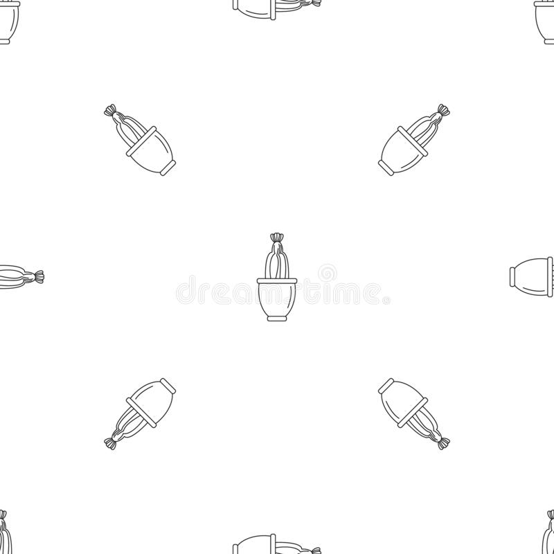 Het patroon naadloze vector van de cactusbloem royalty-vrije illustratie
