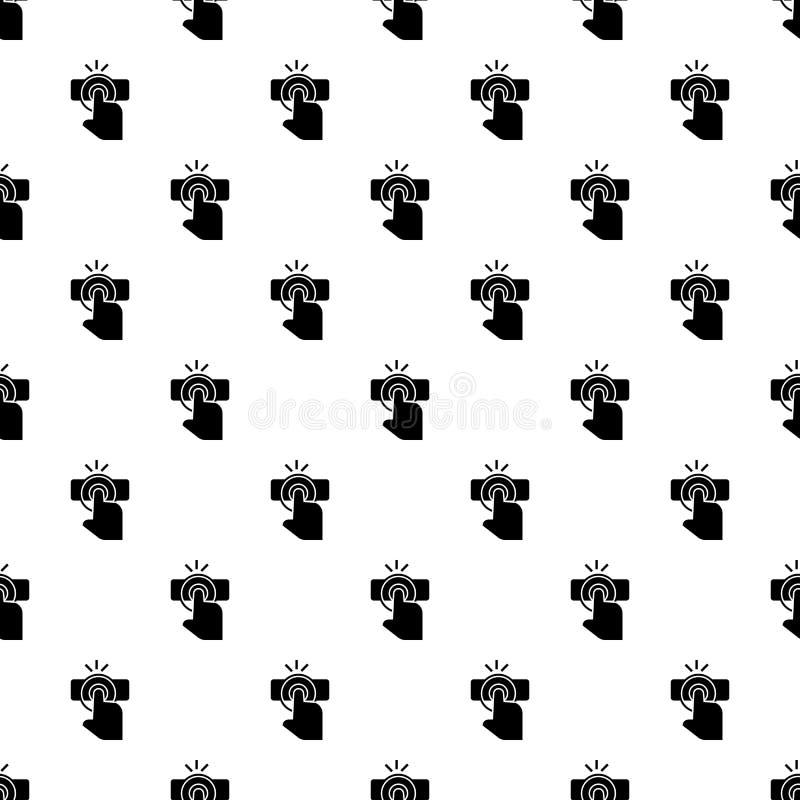 Het patroon naadloze vector van de vingeraanraking stock illustratie