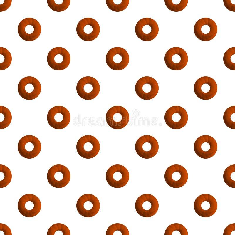 Het patroon naadloze vector van doughnutkoekjes stock illustratie