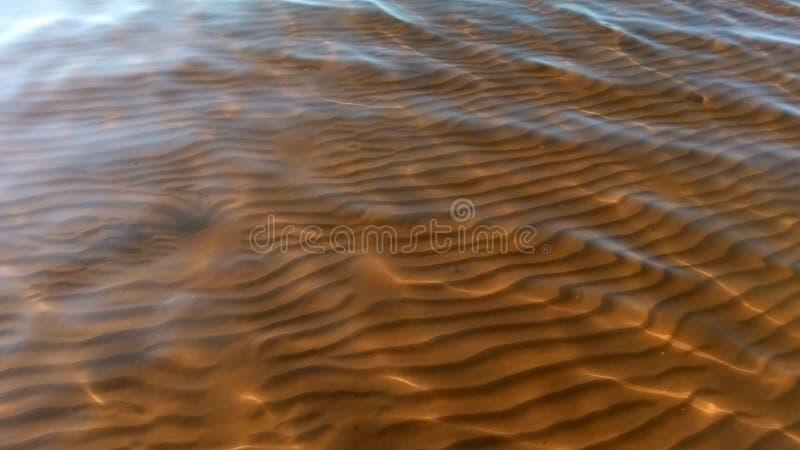 Het patroon op de bodem van de rivier royalty-vrije stock foto