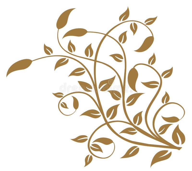 Het patroon van bladeren en van wijnstokken vector illustratie