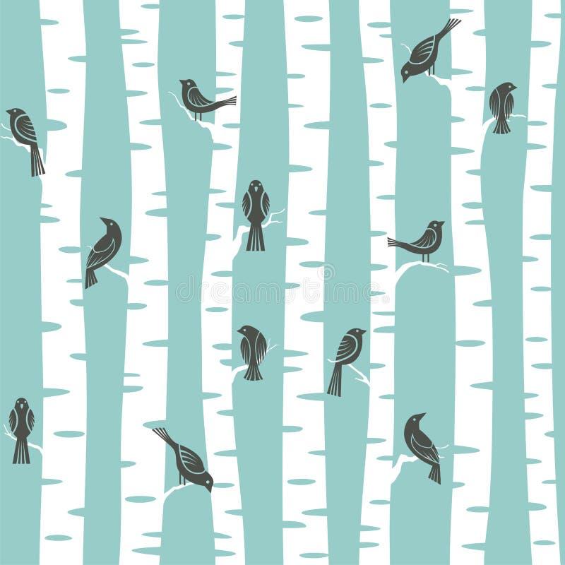 Het patroon van bomen vector illustratie