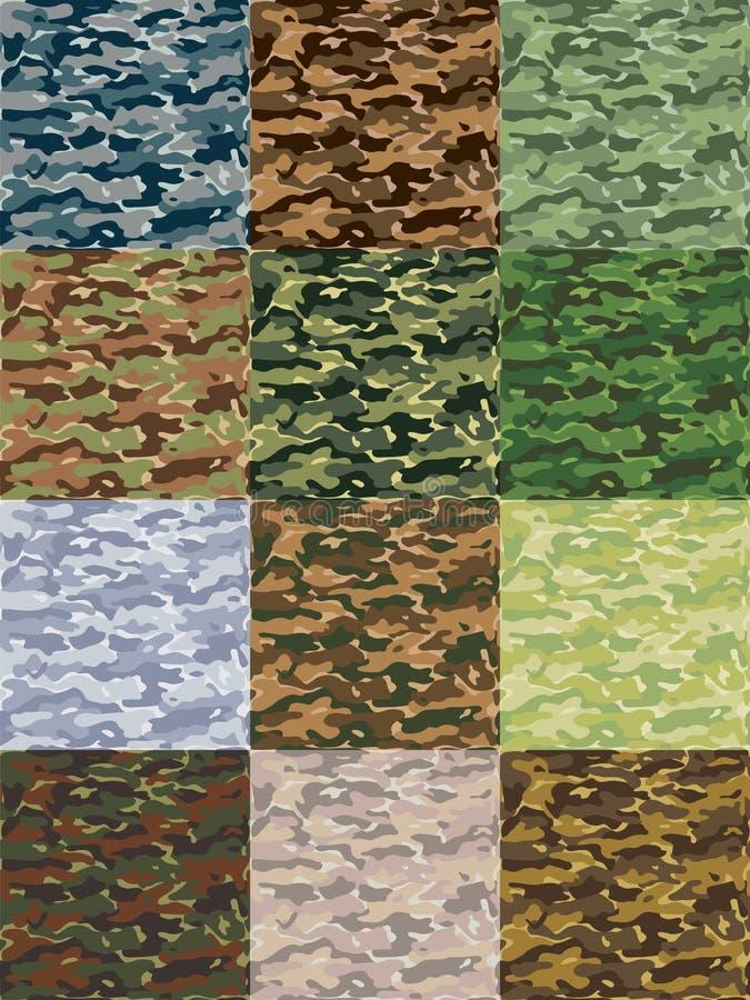 Het patroon van Camo vector illustratie