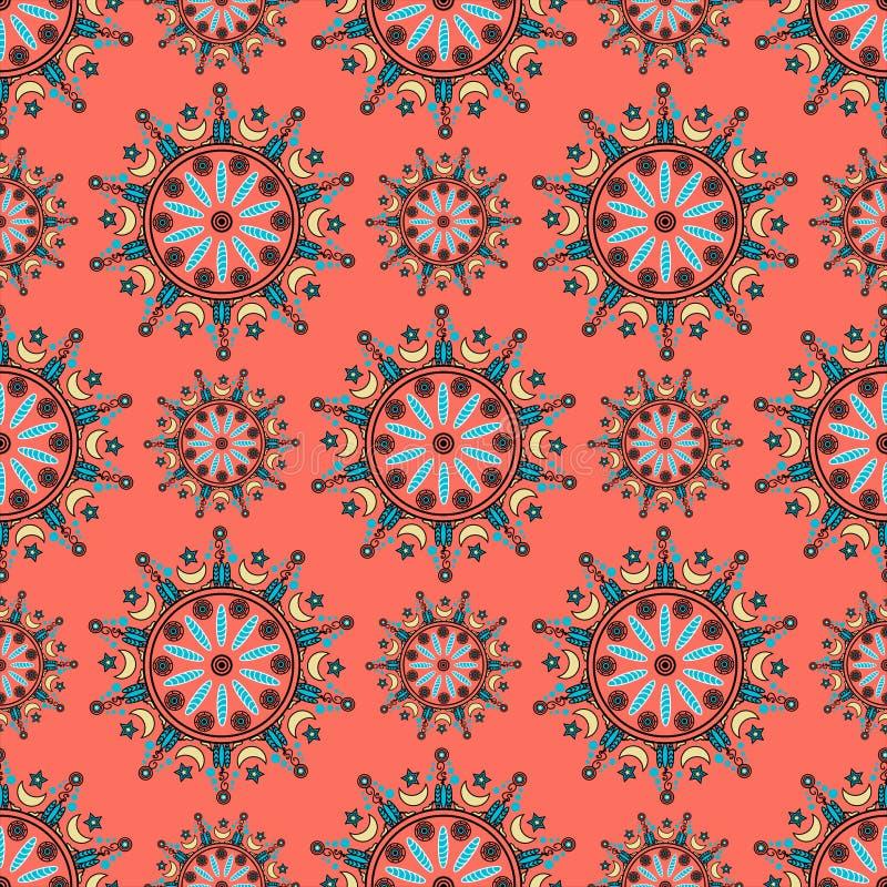 Het patroon van het cirkelornament stock illustratie