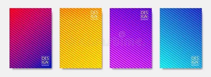 Het patroon van de achtergrond in gradiënt abstract lijn dekkingsontwerp Modern ontwerp als achtergrond met in en levendige kleur vector illustratie