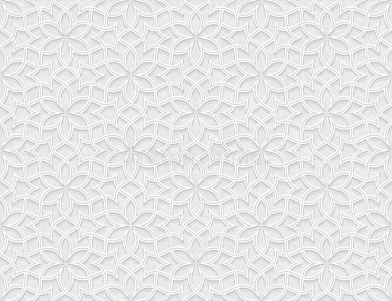 Het Patroon van de Arabesquester met Grunge Licht Grey Background royalty-vrije illustratie