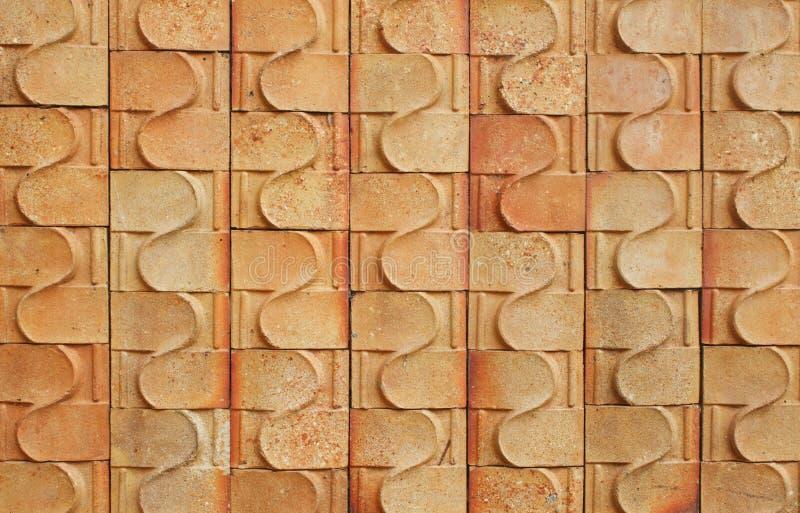 Het patroon van de baksteen stock foto's