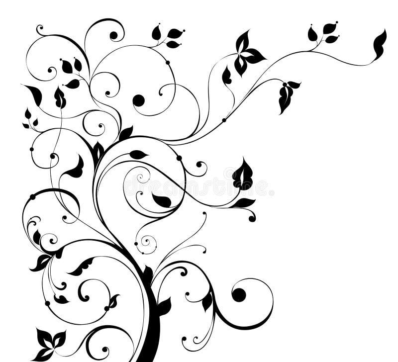 Het patroon van de bloem en van de boom vector illustratie