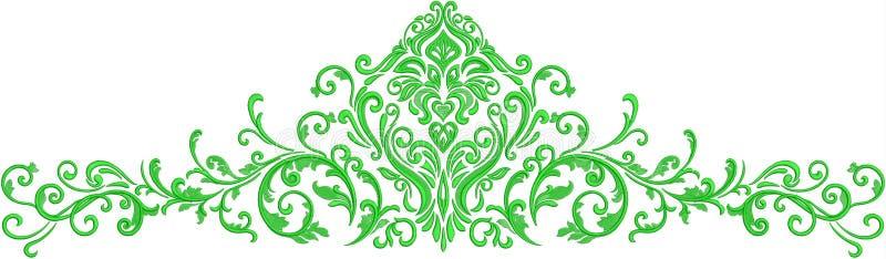 het patroon van de bloemillustratie op eenvoudige achtergrond stock illustratie