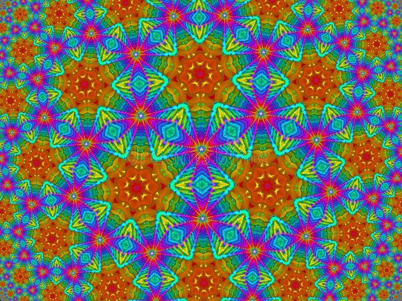 Het Patroon van de bloemregenboog vector illustratie