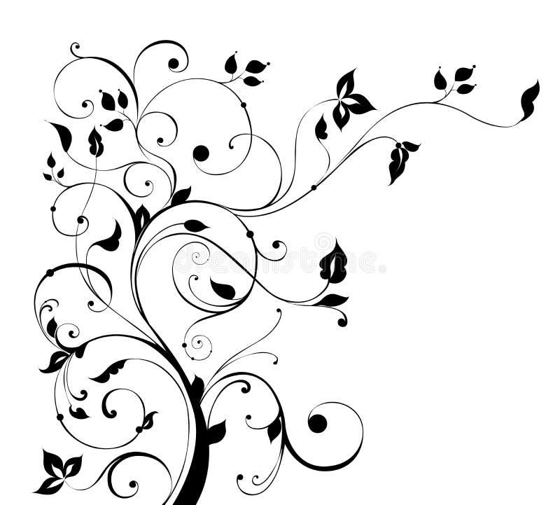 Het patroon van de boom en van de bloem royalty-vrije illustratie