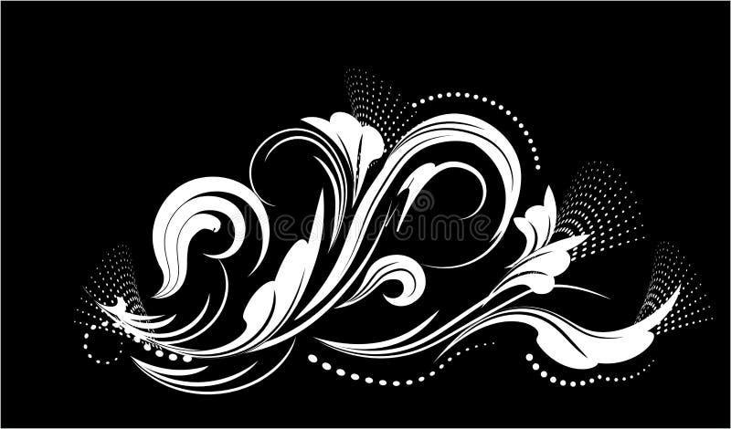 Het patroon van de borstelbloem stock illustratie