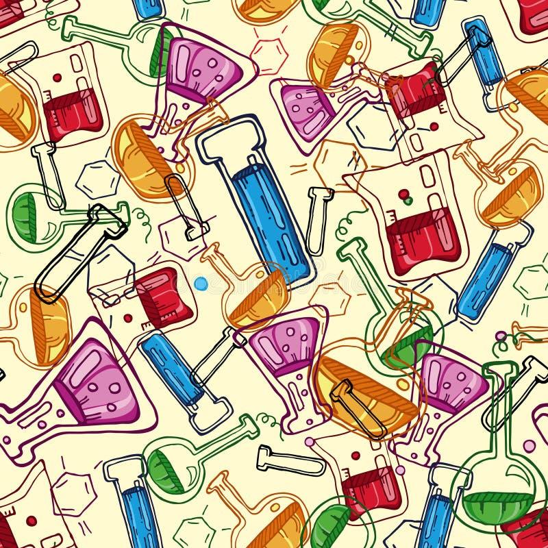 Het patroon van de chemie vector illustratie