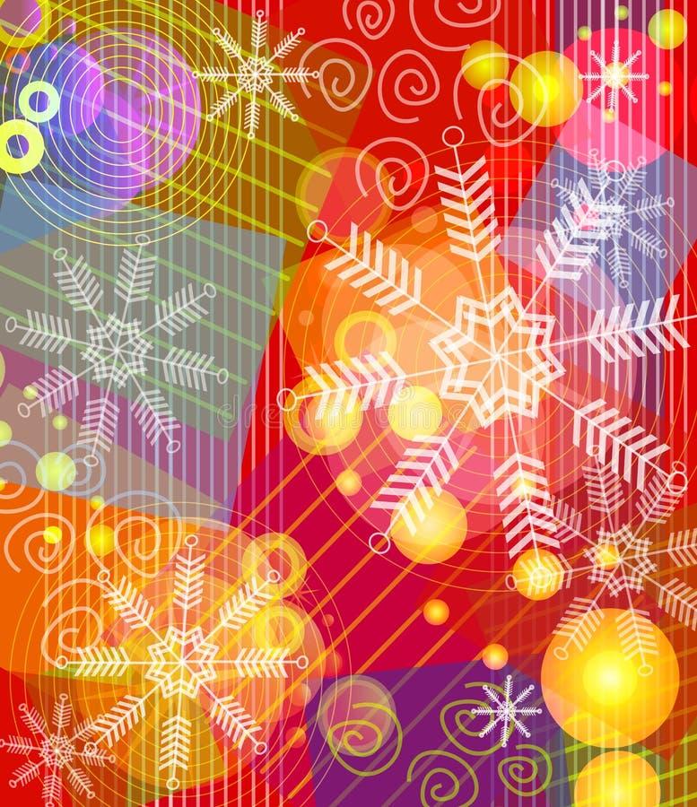 Het Patroon van de Collage van de Omslag van Kerstmis royalty-vrije illustratie