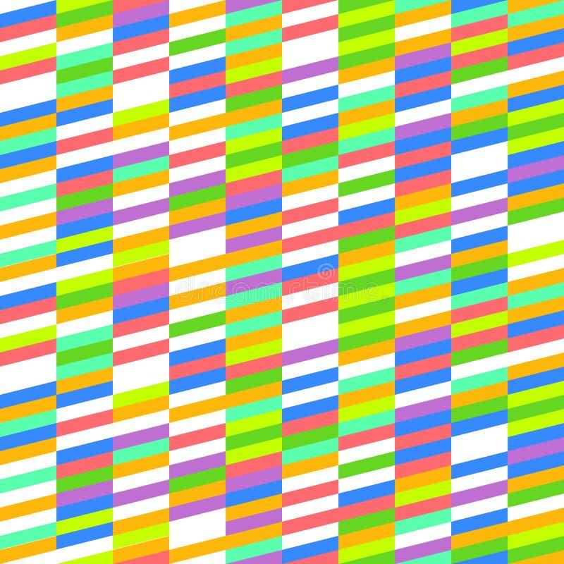 Het Patroon van de de jaren '80pastelkleur stock illustratie