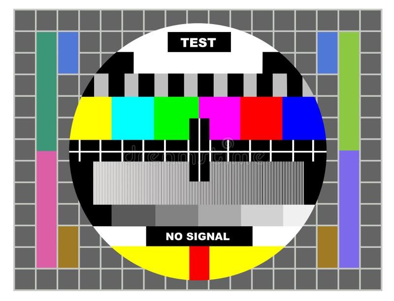 Het patroon van de de kleurentest van TV royalty-vrije illustratie