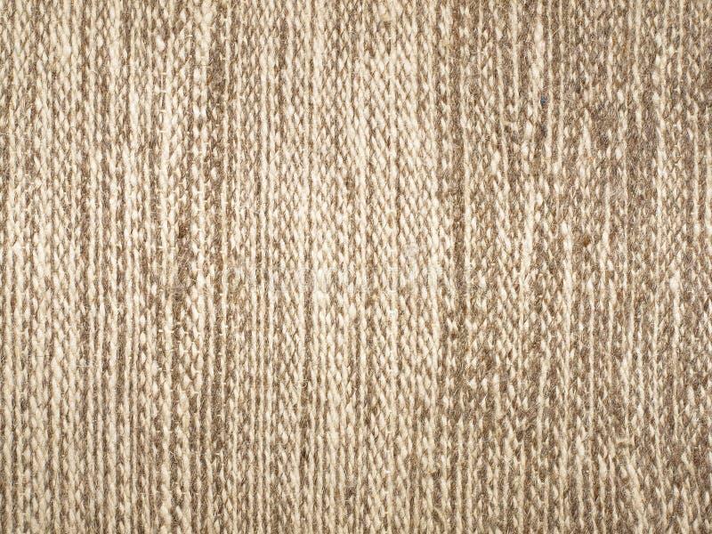 Het patroon van de de stoffentextuur van de kameelwol. royalty-vrije stock afbeelding