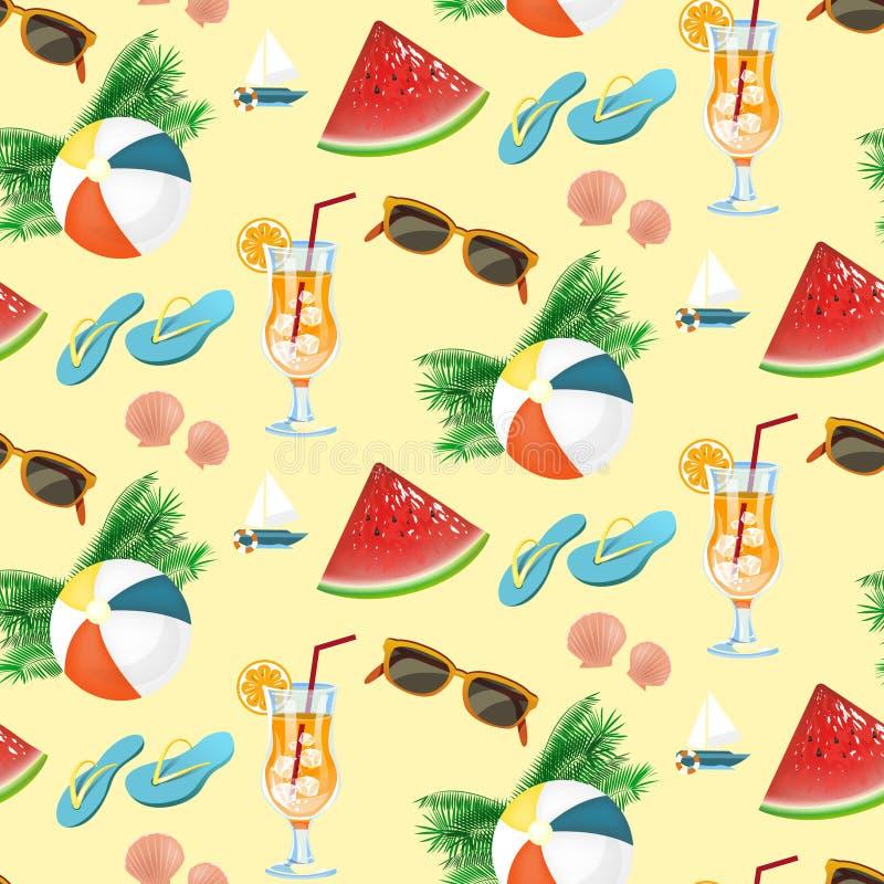 Het patroon van de de zomervakantie stock illustratie