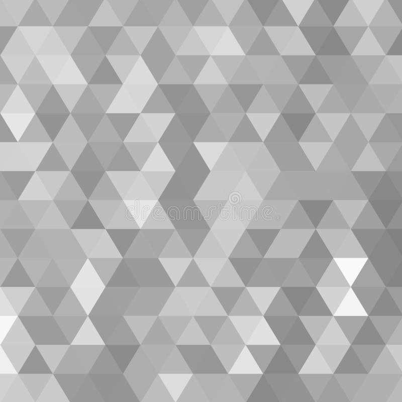 Het patroon van de driehoek Abstract geometrisch behang van de oppervlakte Tegelachtergrond Druk voor polygraphy, affiches, t-shi royalty-vrije illustratie