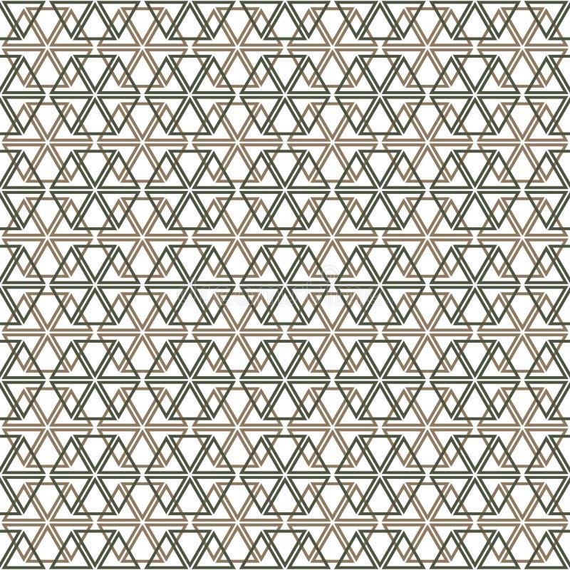 Het patroon van de driehoeken die de zeshoek vormen vector illustratie