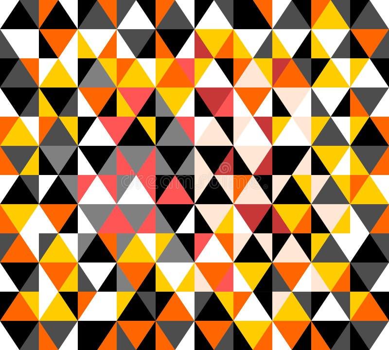 Het patroon van de driehoeksmanier vector illustratie