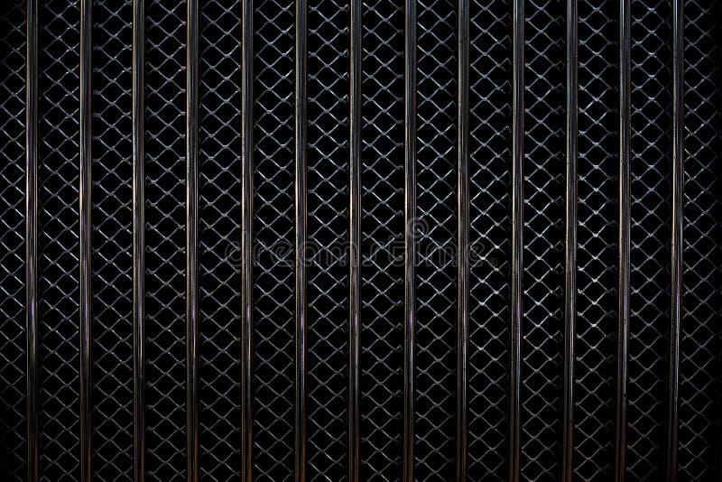 Het Patroon van de Grill van de auto stock fotografie