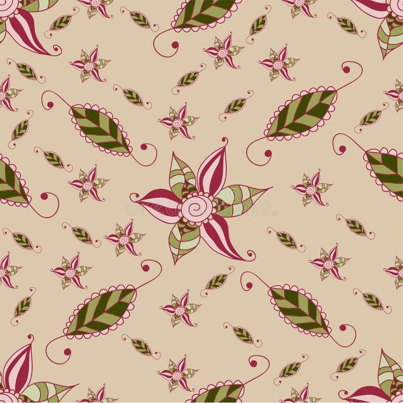 Het patroon van de grungebloem stock afbeelding
