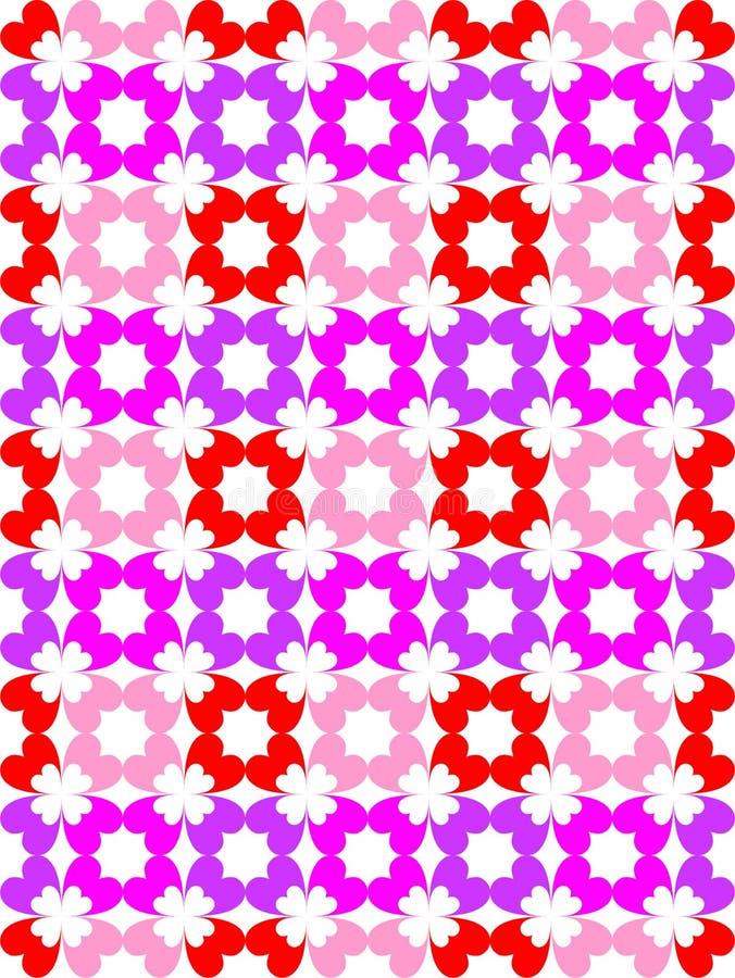 Het patroon van de hartkleur stock foto's