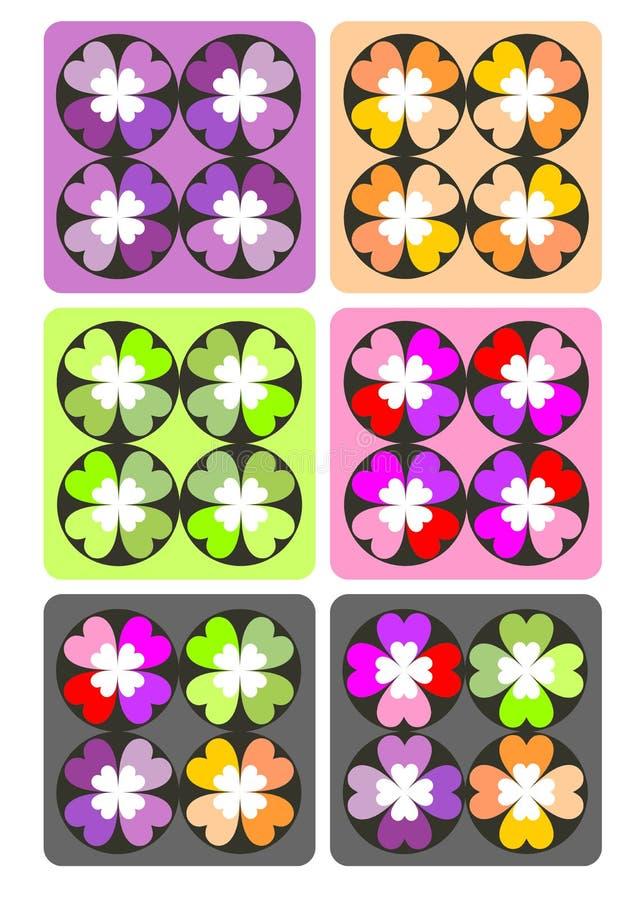 Het patroon van de hartkleur royalty-vrije stock foto's