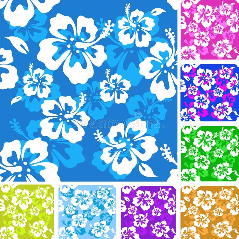 Het patroon van de hibiscus stock illustratie