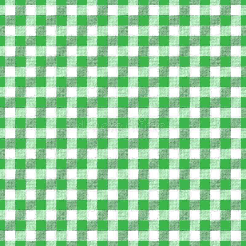 Het patroon van de houthakkersplaid in groen en zwart Naadloos vectorpatroon stock illustratie