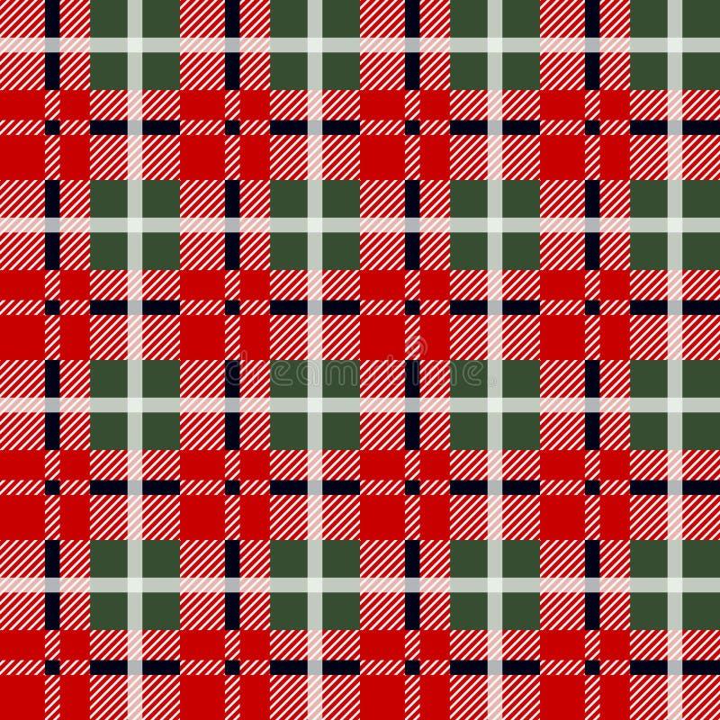 Het patroon van de houthakkersplaid in rood en zwart Naadloos vectorpatroon Eenvoudig uitstekend textielontwerp vector illustratie