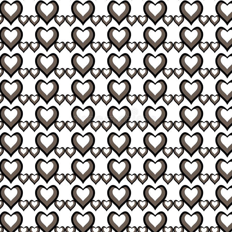 Het patroon van de illustratiemanier met harten op Gelukkige Valentijnskaartendag stock afbeeldingen