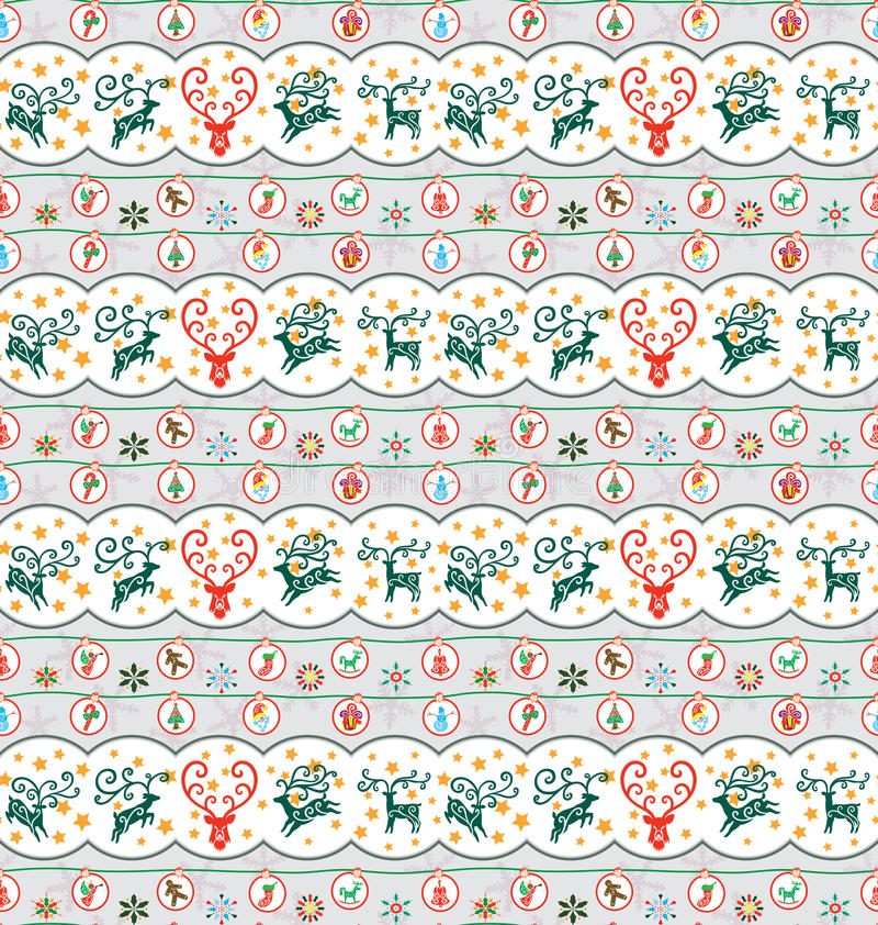 Het Patroon van de Inzameling van Kerstmis royalty-vrije illustratie