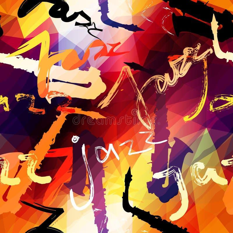 Het patroon van de jazzmuziek royalty-vrije illustratie
