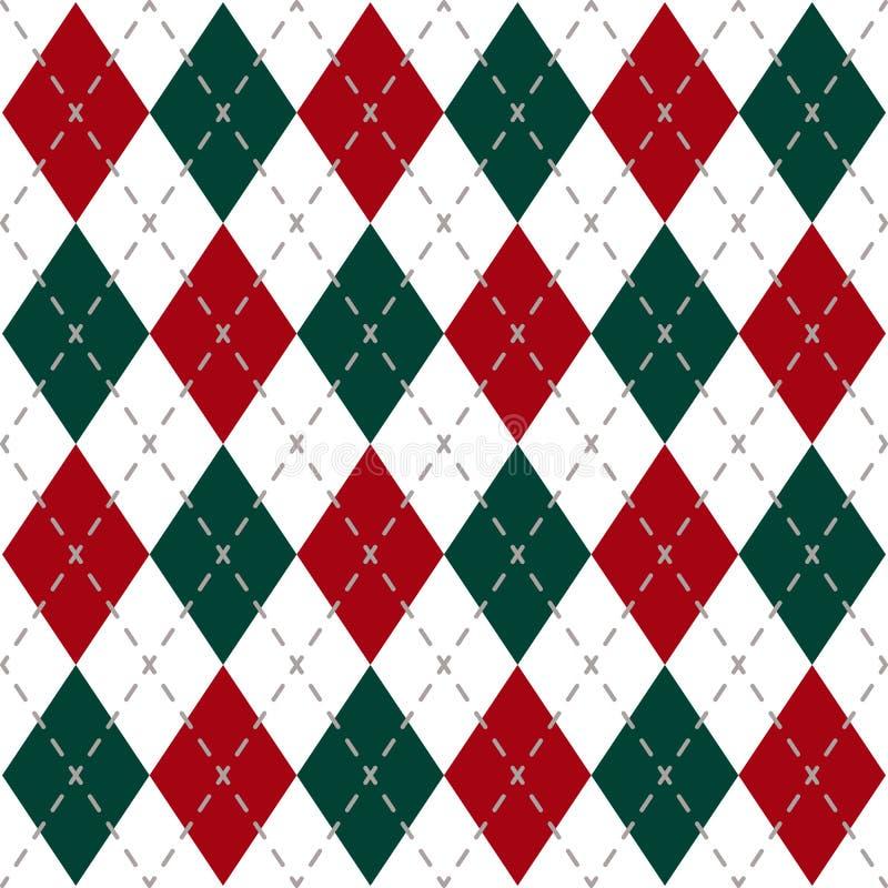 Het Patroon van de Kerstmiscontrole royalty-vrije illustratie