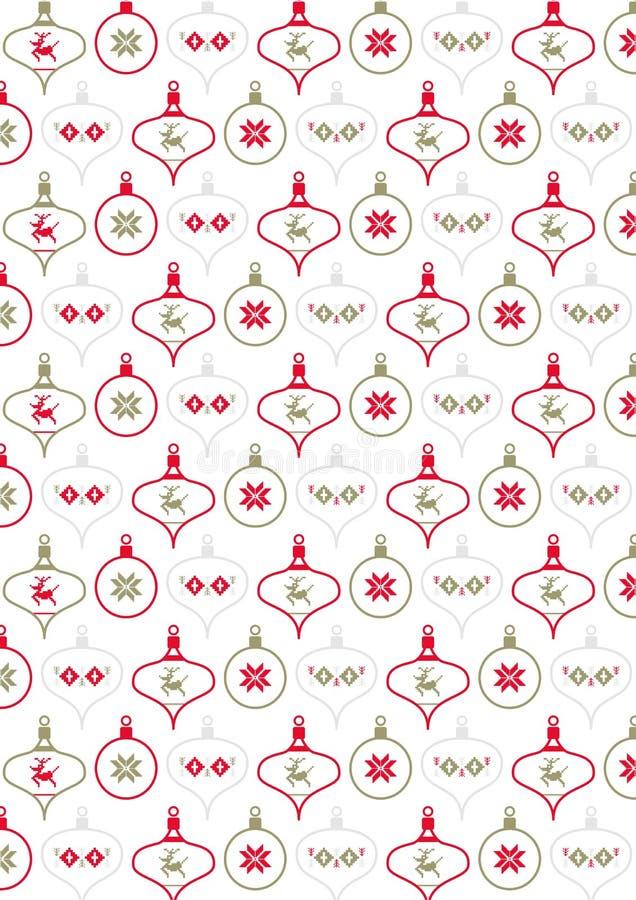 Het Patroon van de Kerstmissnuisterij royalty-vrije illustratie