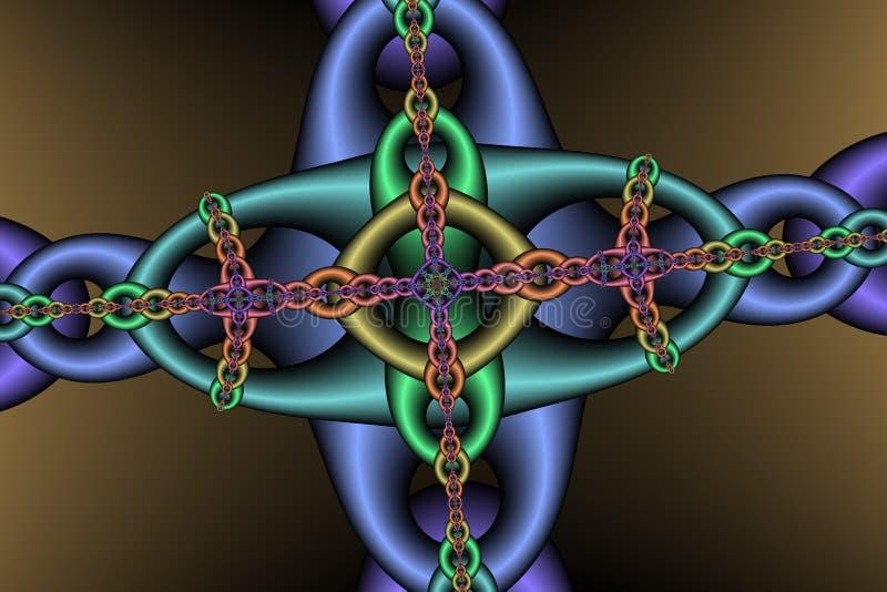 Download Het patroon van de ketting stock illustratie. Afbeelding bestaande uit zwart - 26836